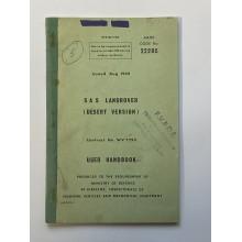 Original Ex Military User Handbook for SAS Land Rover Pink Panther No 22205