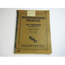 Four Wheel Drive Auto Co, Original Maintenace Manual 1942. Printed in the USA ex Technical records  Slight Staining HAR